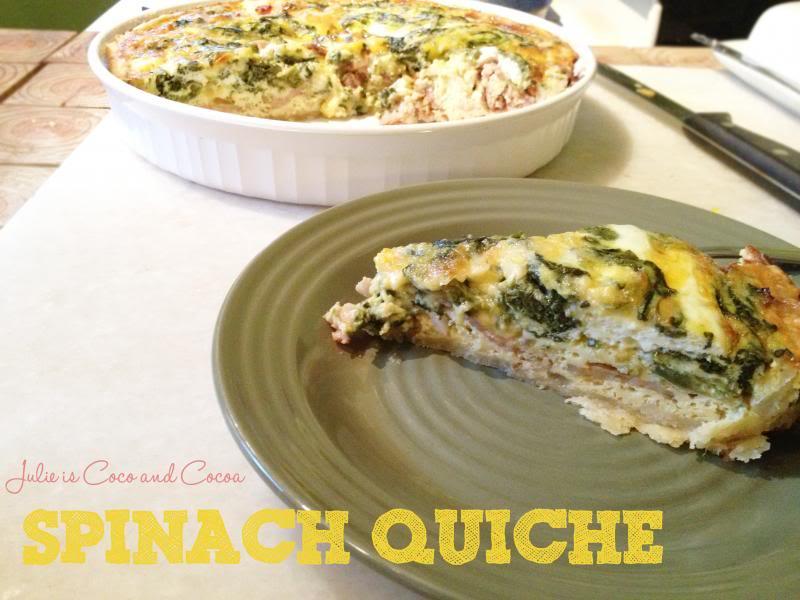 Spinach Quiche Dinner
