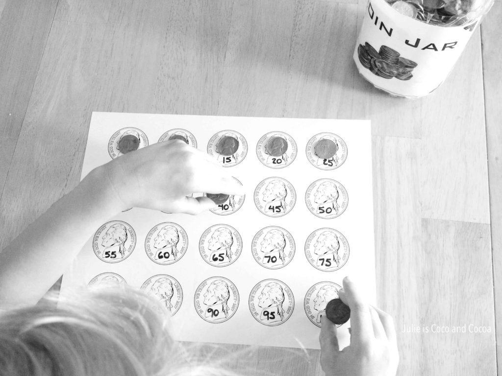 Skip Counting by 5 with Nickels and High Fives