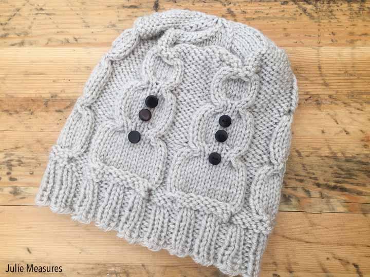 snowman hat knit pattern