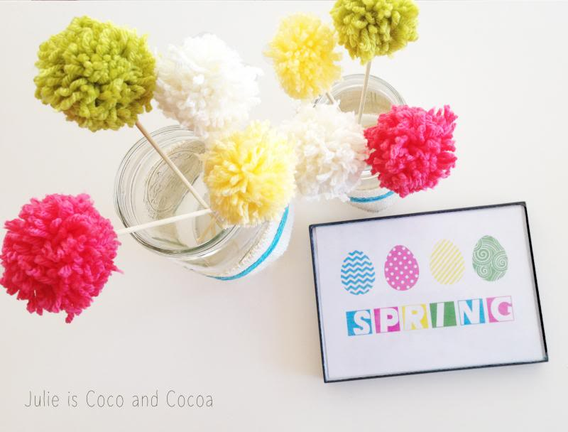 Spring mason jars {and a free printable}