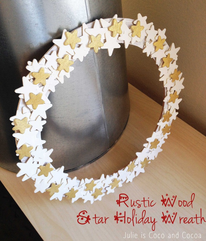 Rustic Wooden Star Wreath for the Holidays
