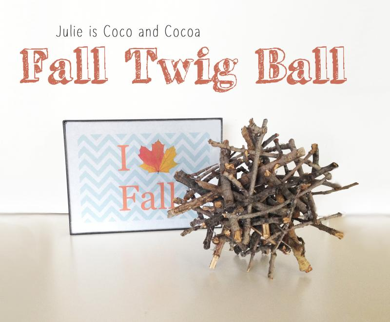 DIY Fall Twig Ball