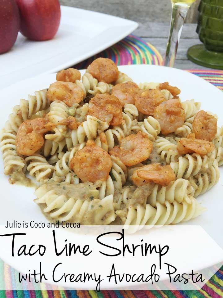 Taco Lime Shrimp with Creamy Avocado Pasta Recipe
