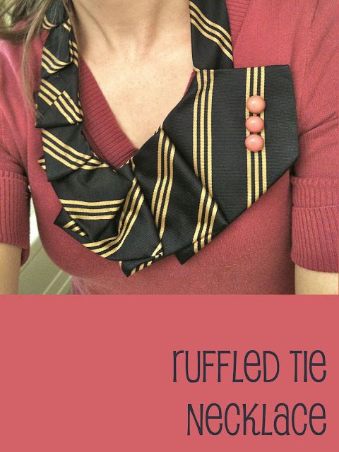 Ruffled Tie Necklace