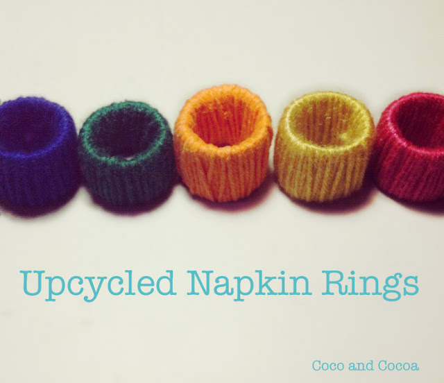upcycled napkin rings
