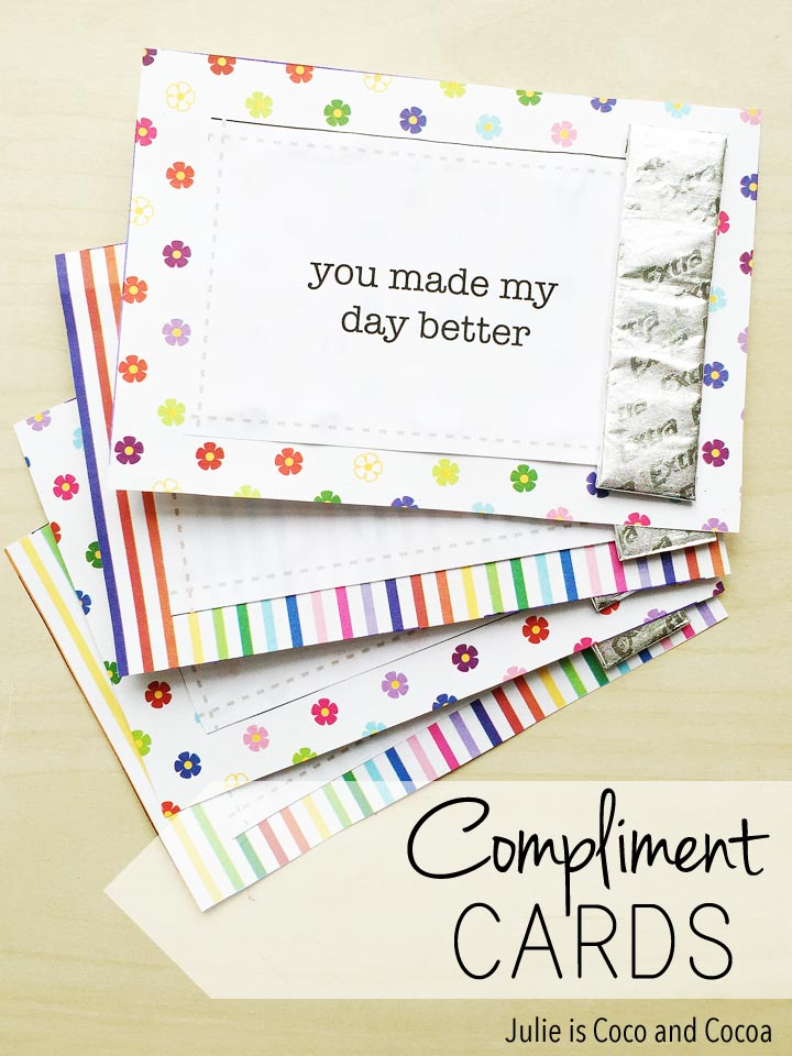 DIY Compliment Cards