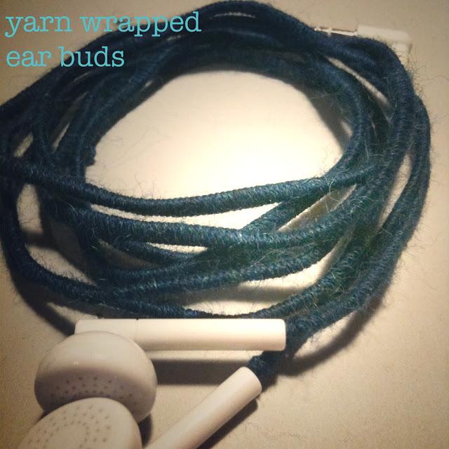 yarn wrapped ear buds