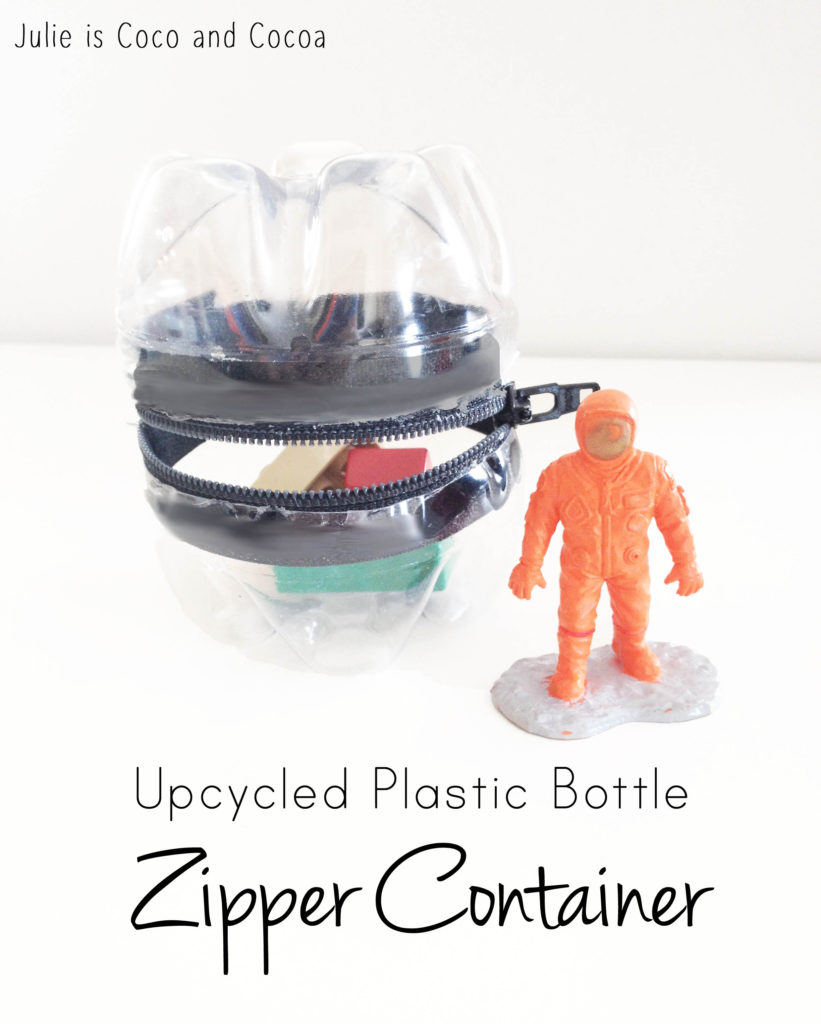 Upcycled Plastic Bottle Zipper Container