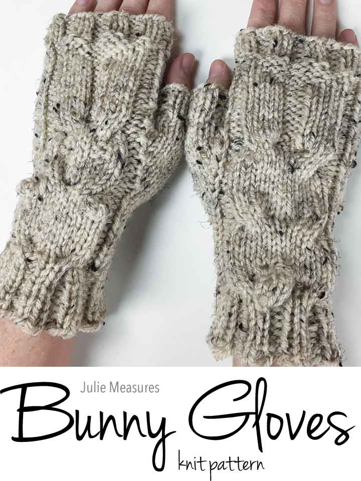Bunny Gloves Knit Pattern