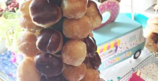 DIY Donut Hole Cake for a Donut Themed Baby Shower