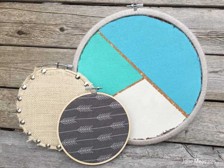 Cork Embroidery Hoop Message Boards