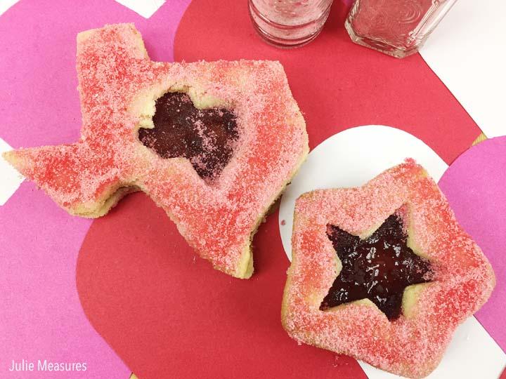 Easy Linzer Cookies and DIY Colored Sugar Sprinkles