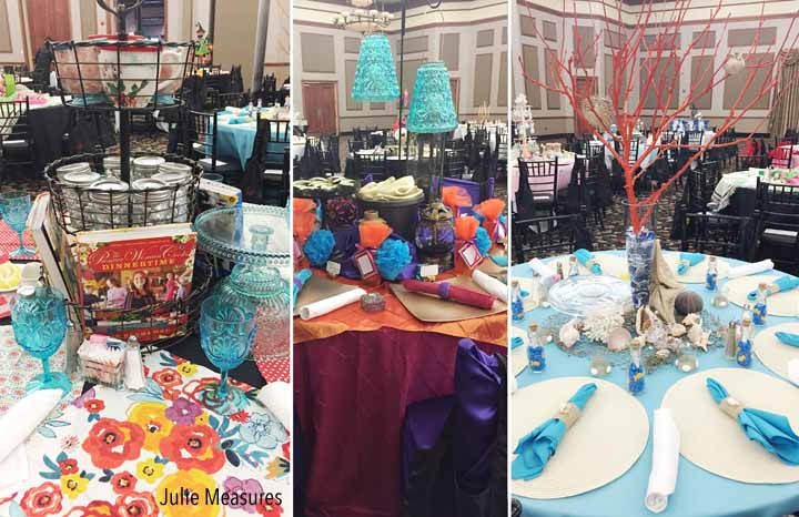 Blue Orange Table Centerpiece