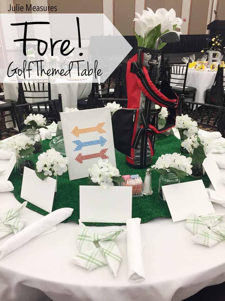 Golf Themed Table Golf Themed Table Centerpiece