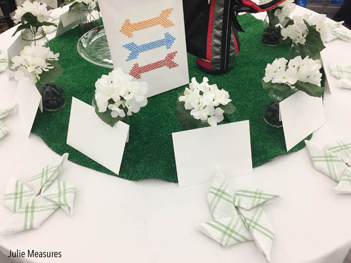 Golf Themed Table Centerpiece