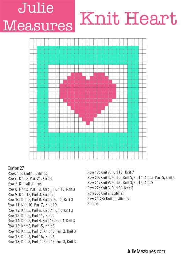 Knitting Heart Chart : Knit hearts julie measures