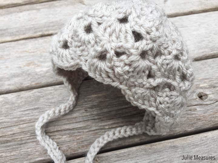 Baby Bonnet Crochet Pattern - Julie Measures