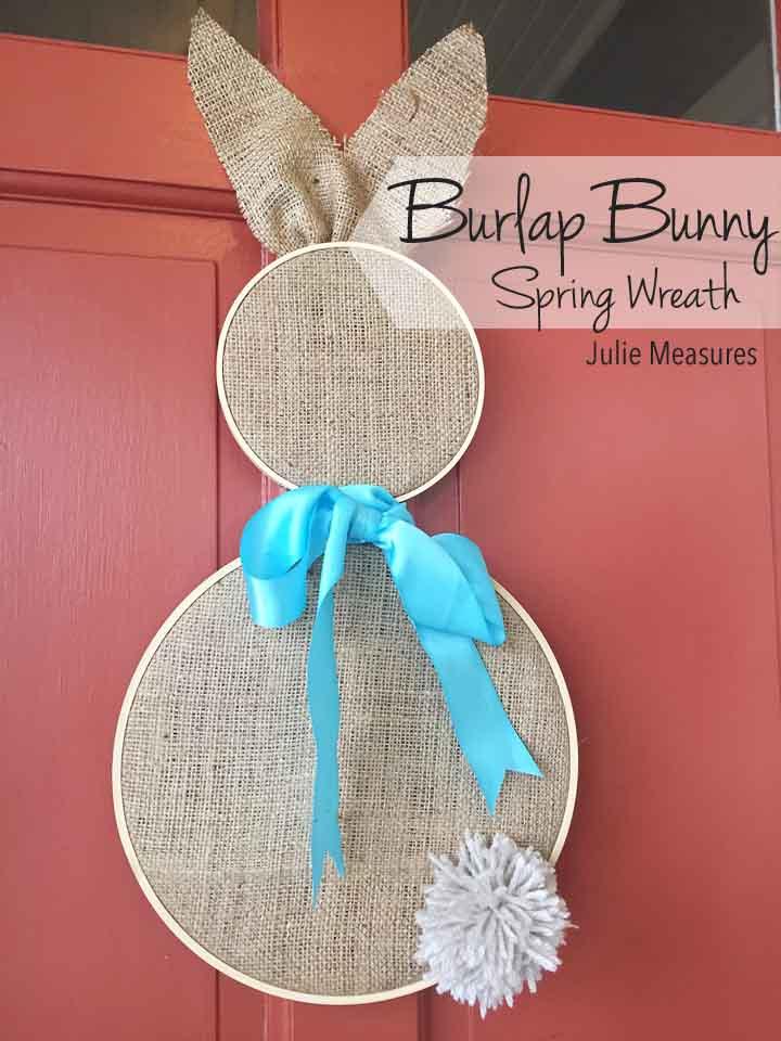 Burlap Bunny Spring Wreath