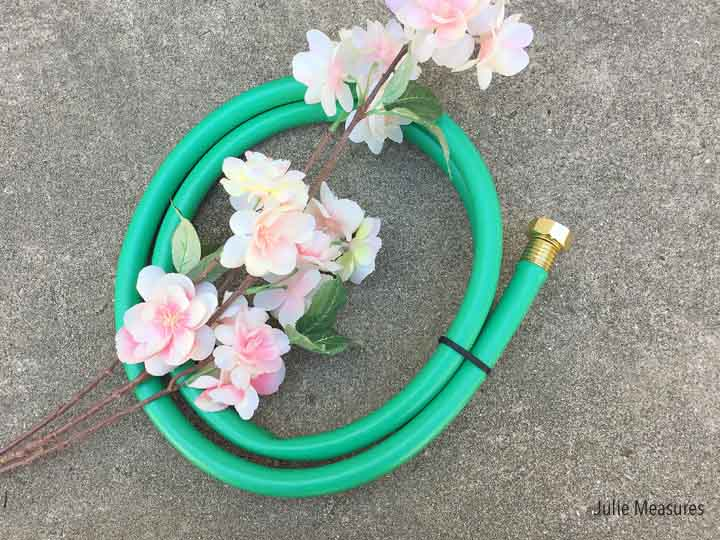 Spring Showers Garden Hose Wreath