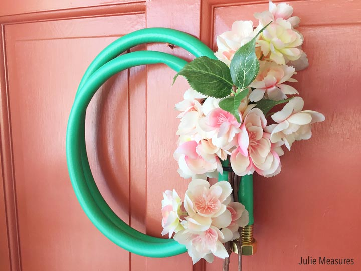 Spring Showers Garden Hose Wreath