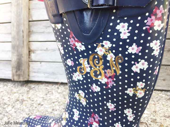 Spring Showers Monogrammed Rain Boots