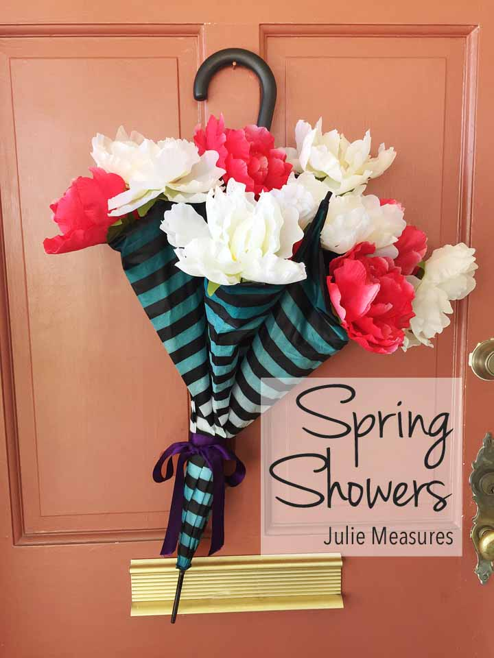 Spring Showers Umbrella Wreath