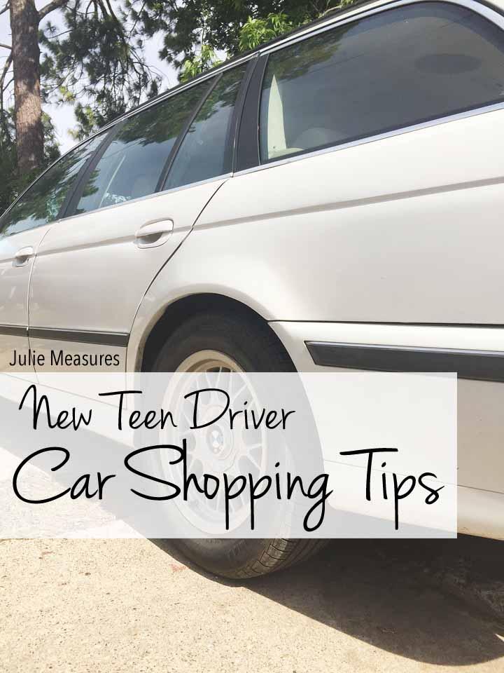 New Teen Driver Car Shopping Tips