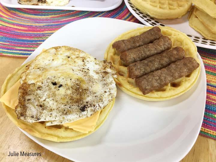 Waffle Bar Sandwiches