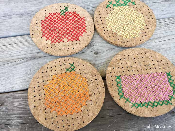 Cross Stitch Coasters