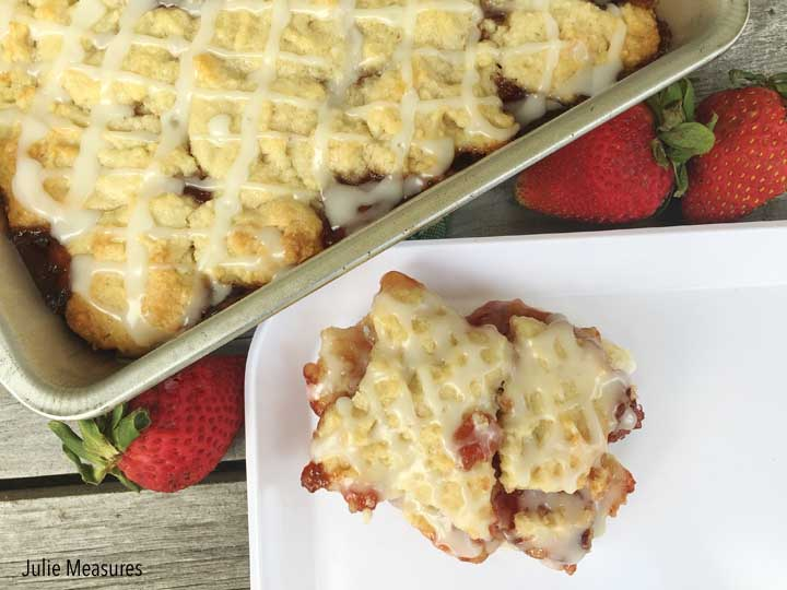 Lemon Strawberry Shortbread Bars Recipe