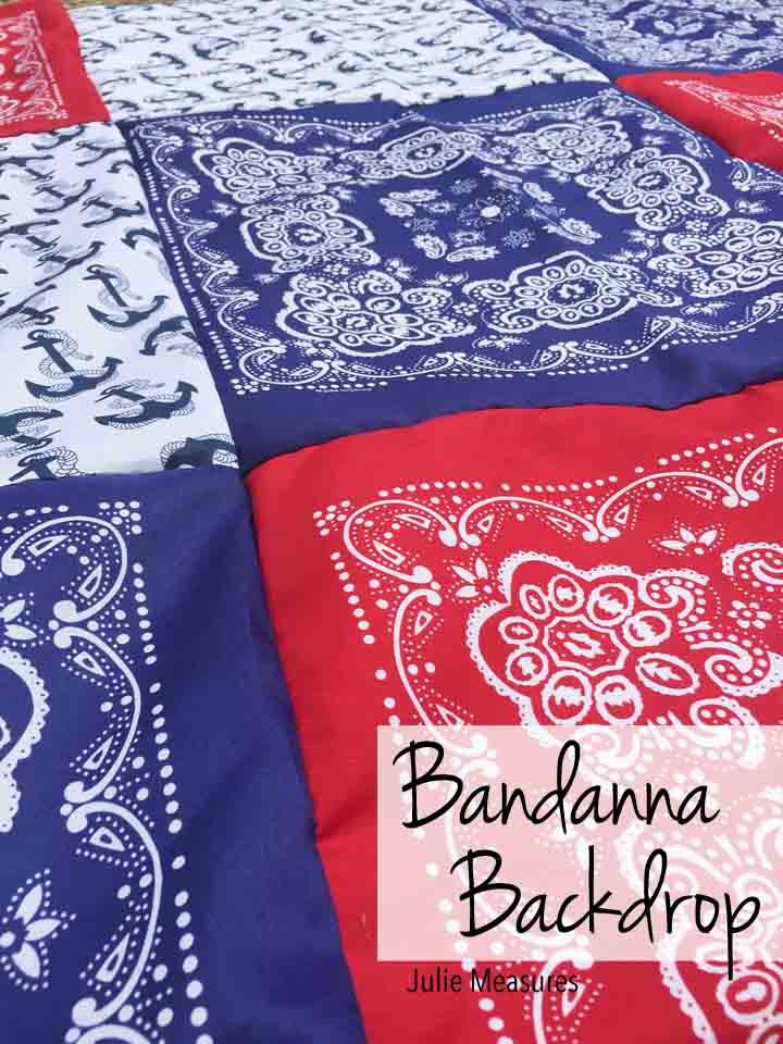 Bandanna Photo Backdrop Bandanna Tablecloth