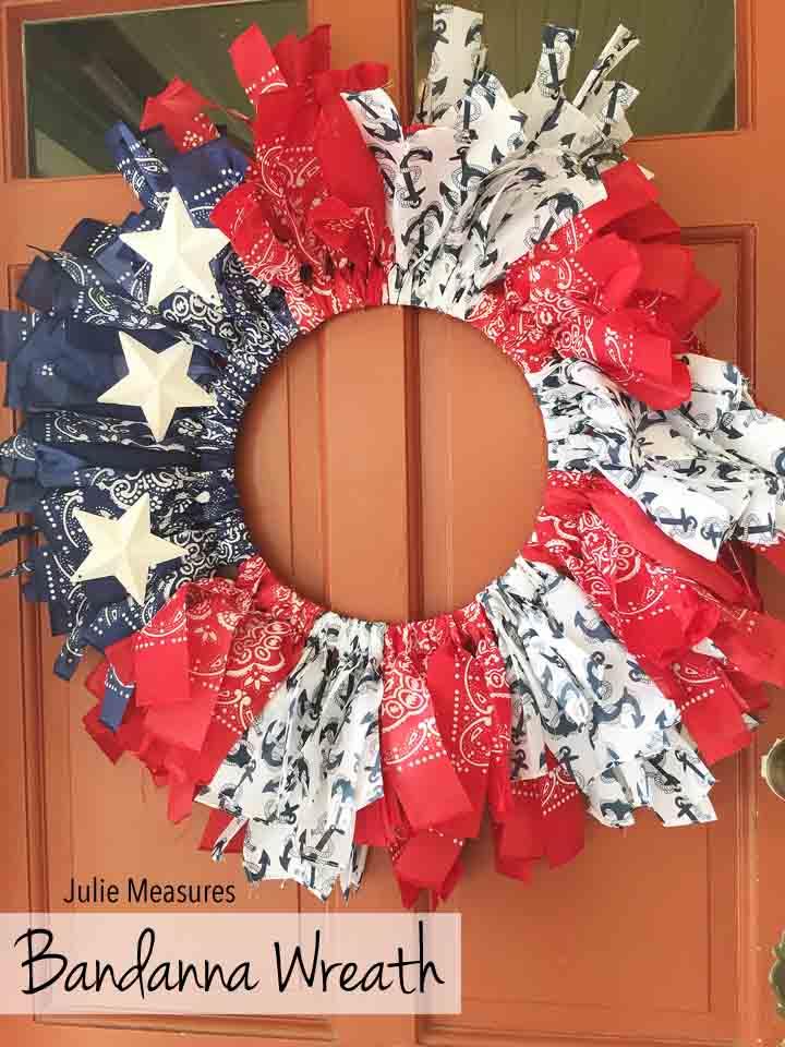 Bandanna Patriotic Wreath