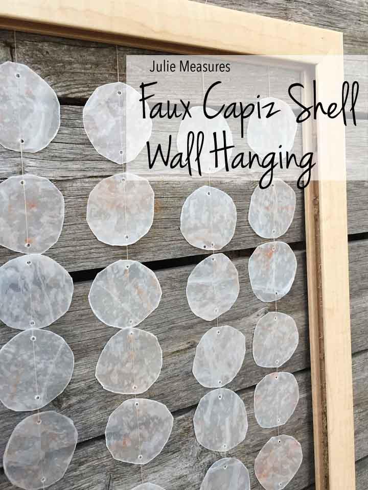Faux Capiz Shell Wall Hanging