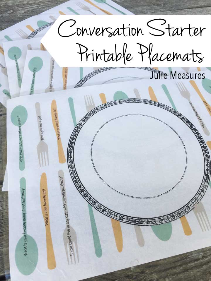 photo regarding Printable Placemats named Communication Newbie Placemats Free of charge Printable - Julie Ways