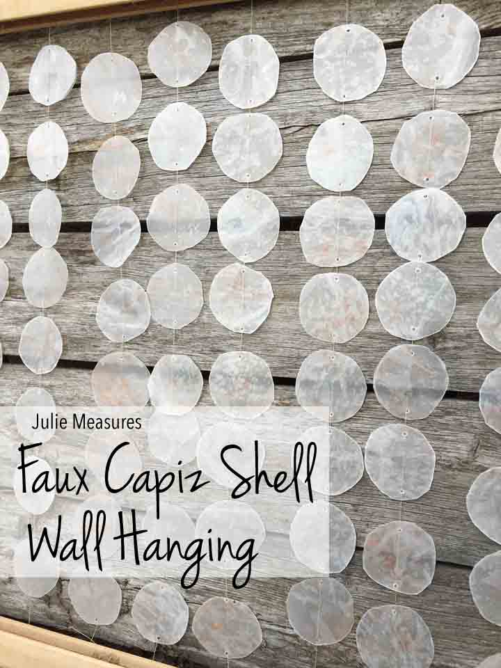 Faux Capiz Shell Wall Hanging