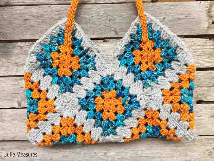 Granny Square Crochet Bag Pattern - Julie Measures