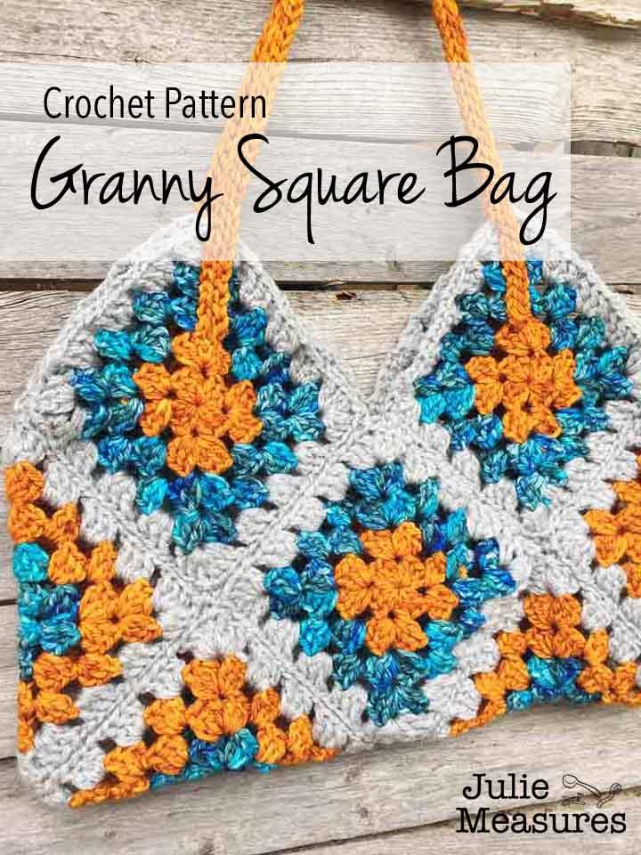 Green Crochet Bag Big Granny Square Bag