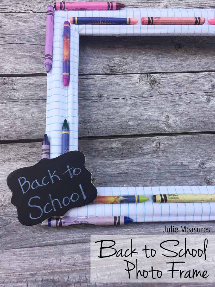 Back to School Notebook Paper Photo Prop