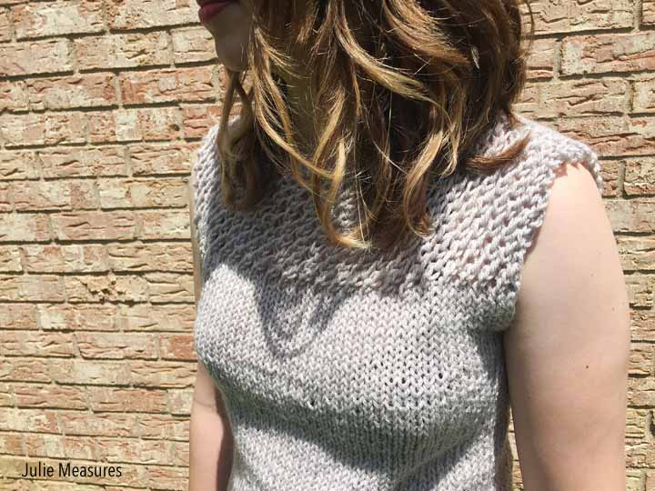 Summer Knit Blouse Knit Top