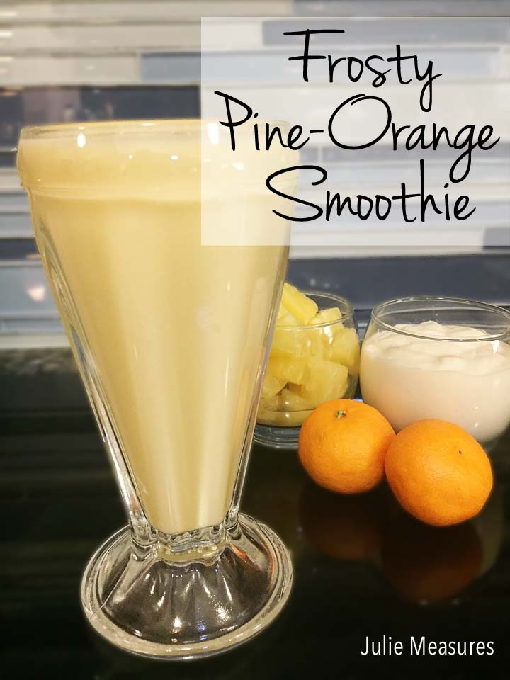 frosty pineorange smoothie