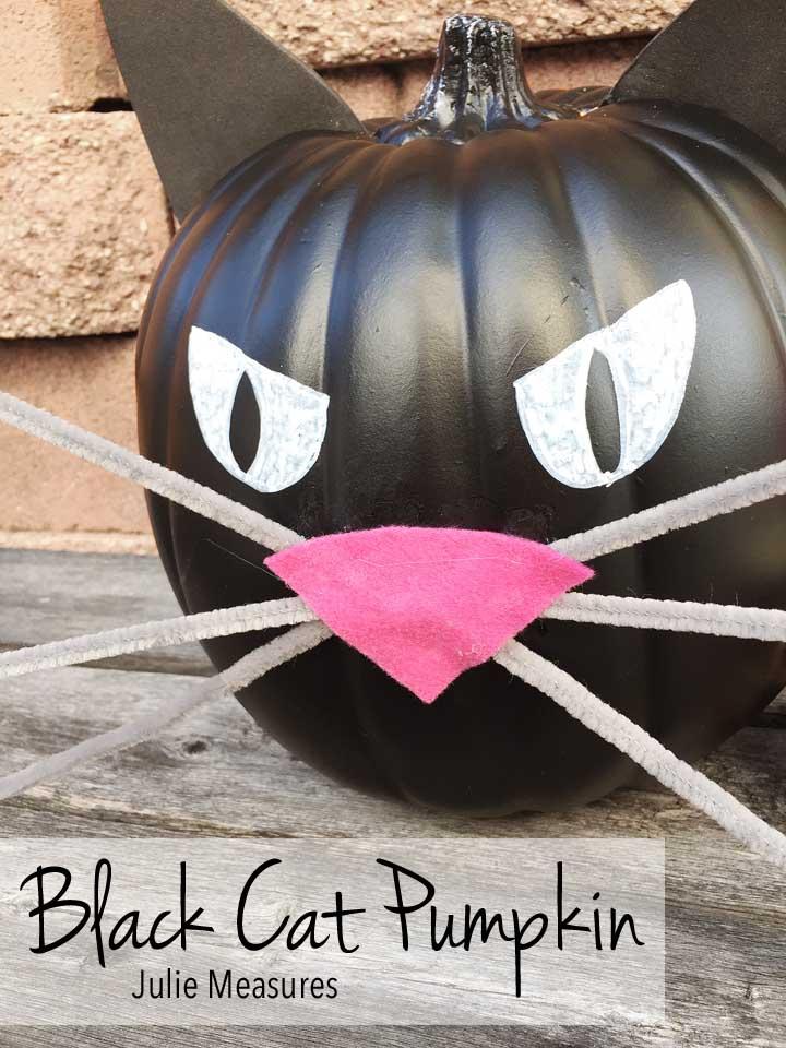 DIY Black Cat Pumpkin
