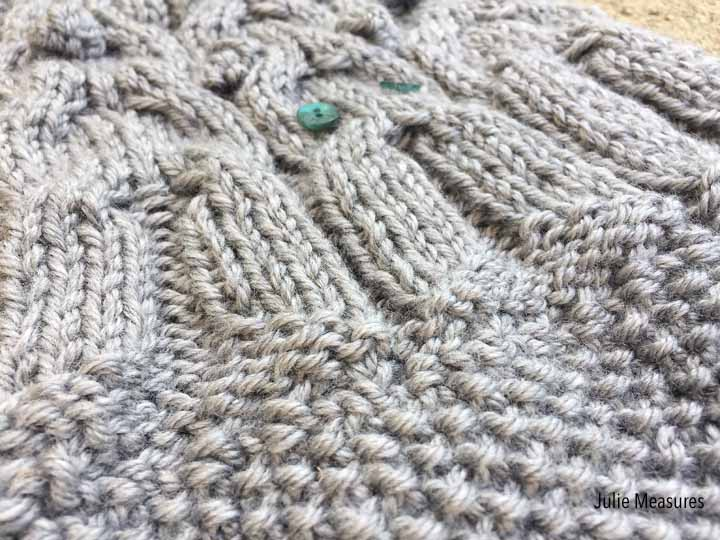 Double Moss Stitch Knitting In The Round : Bunny scarf knit pattern julie measures