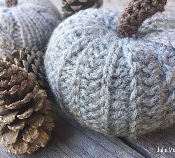 Knit Pumpkin Crochet Pumpkin