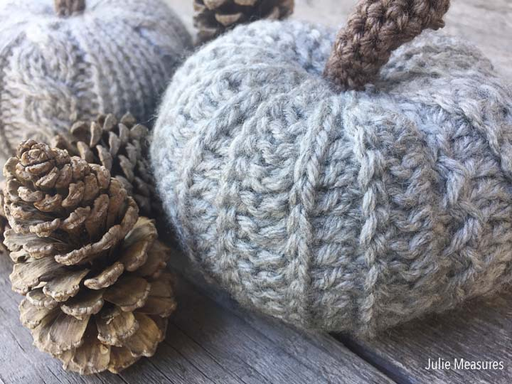 Knit Pumpkin Crochet Pumpkin