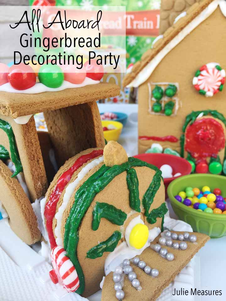All Aboard for a Gingerbread Decorating Party