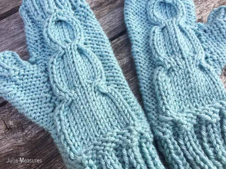 Snowman Knit Gloves
