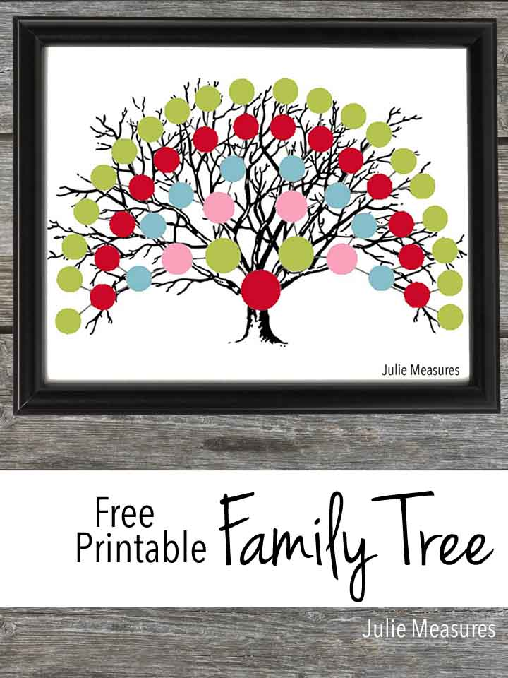 Holiday Family Tree {Free Printable and COCO Movie Review}