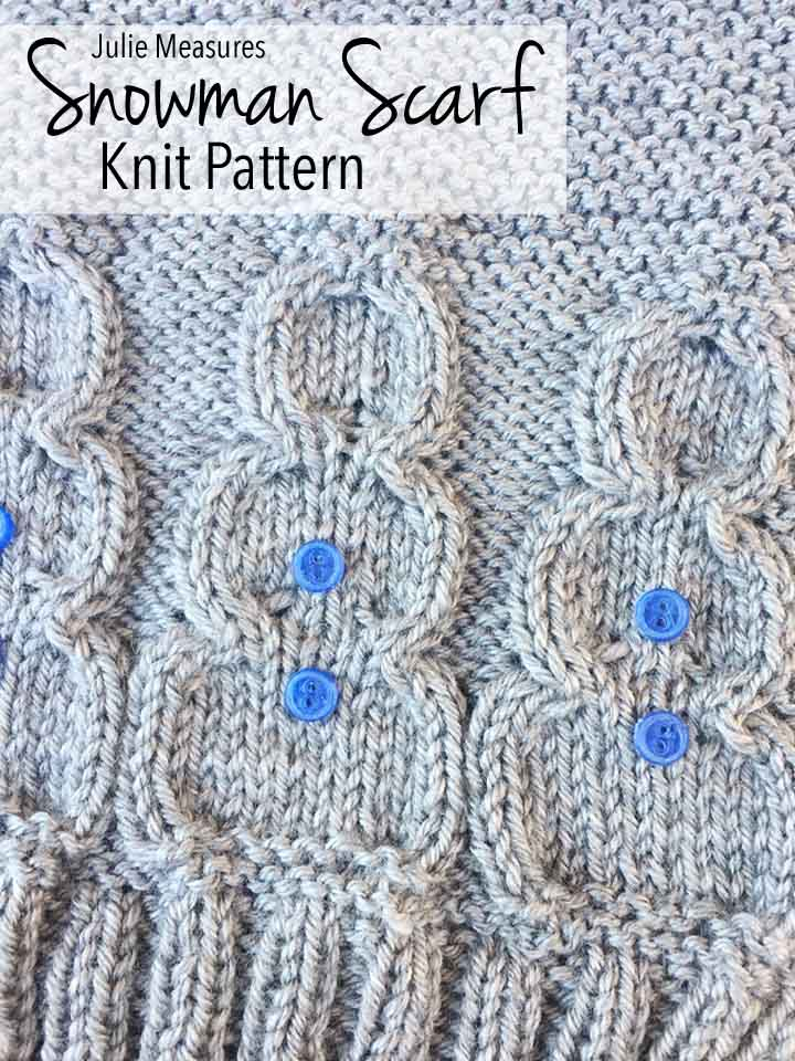 Winter Wonderland Snowman Scarf Knit Pattern