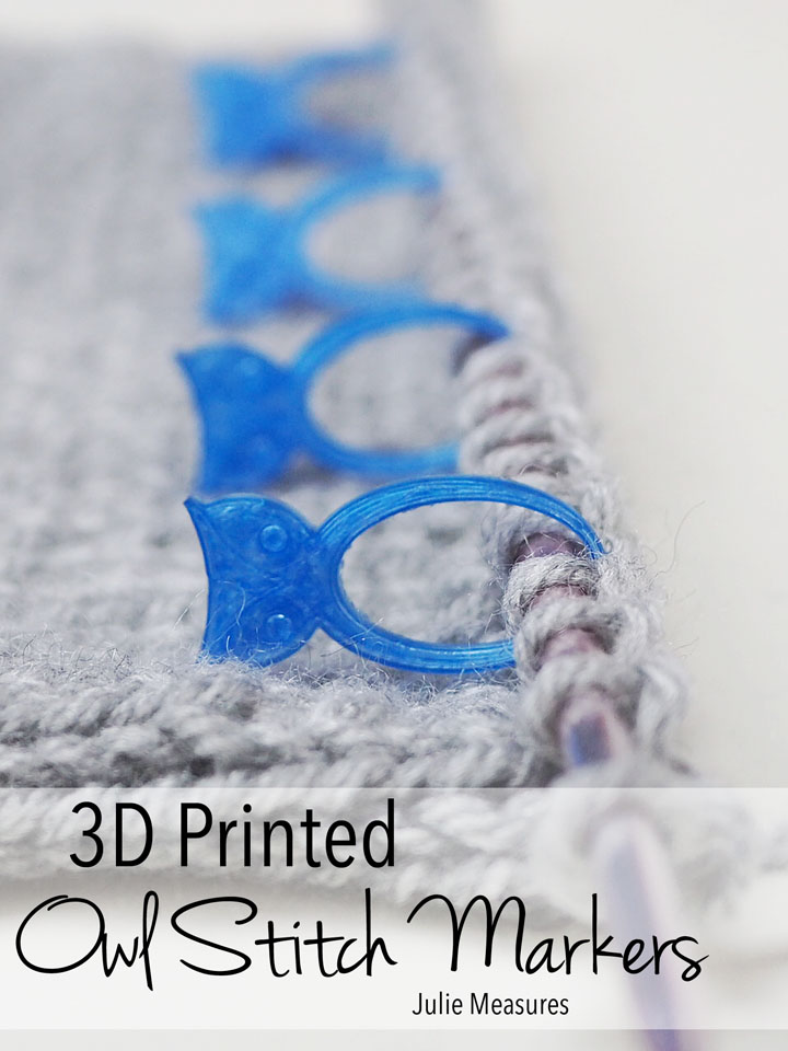 3D Printed Owl Stitch Markers