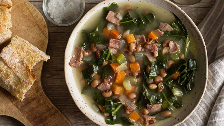 Cozy Black-Eyed Peas and Collard Greens Soup Recipe